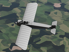 Morane-Saulnier Type G in White Natural Versatile Plastic: 1:144