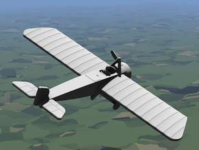 Morane-Saulnier Type H in White Strong & Flexible: 1:144