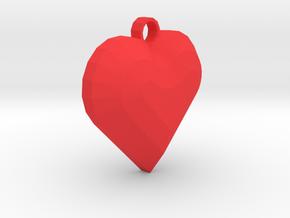 My Heart Pendant in Red Processed Versatile Plastic
