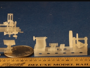 Large Metal Working Machines in HO Scale in Smooth Fine Detail Plastic