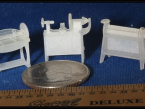 Small Machines for Metal Shop HO Scale 1/87 in Smooth Fine Detail Plastic