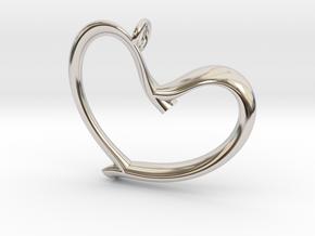 Valentine's in Rhodium Plated Brass