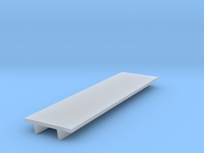 """'N Scale' - 8' Wide Double Tee x 30' Long x 24"""" De in Smooth Fine Detail Plastic"""
