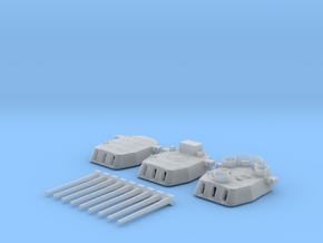 """1/700 16""""/45 MKI HMS Nelson Turrets 1943 in Smoothest Fine Detail Plastic"""