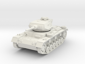 PV163A Pzkw IIIJ Medium Tank (28mm) in White Natural Versatile Plastic