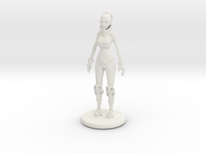 Printle C Woman Robot 1/24 in White Strong & Flexible