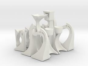 Modern Chess (1 Team) in White Natural Versatile Plastic