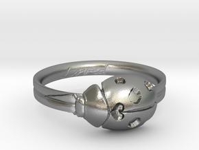 Ladybug Loved Midi Ring in Natural Silver