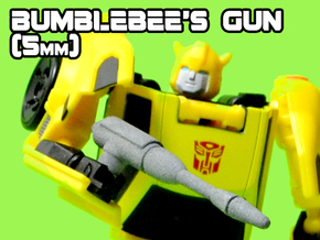 Bumblebee's Gun (MTMTE), 5mm in White Strong & Flexible
