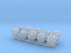 28mm Mutant Heads x10  in Smoothest Fine Detail Plastic