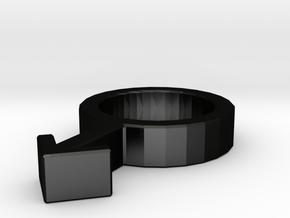 Gender Symbol - Male in Matte Black Steel