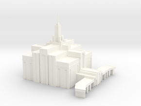 Mt Timpanogos Temple in White Strong & Flexible Polished