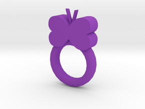 Butterfly Ring in Purple Processed Versatile Plastic