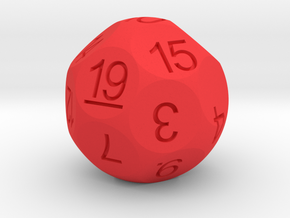 D19 for Impact! Miniatures in Red Strong & Flexible Polished