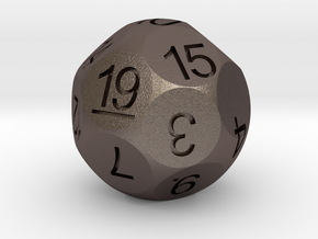 D19 for Impact! Miniatures in Polished Bronzed Silver Steel