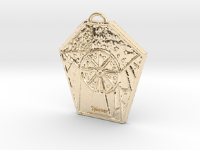 The Spinner's Wheel by ~M. in 14k Gold Plated Brass