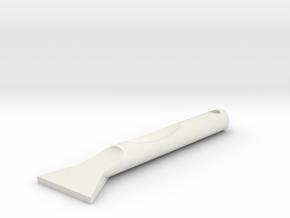 Mini Ice Scraper in White Natural Versatile Plastic
