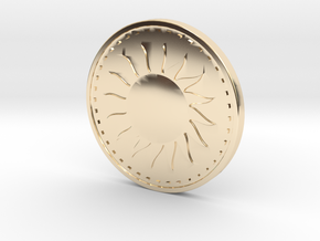 Coin of the Sun in 14k Gold Plated Brass
