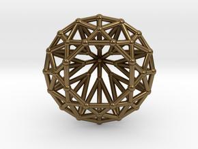 Diamond - Brilliant crystal geometry in Polished Bronze