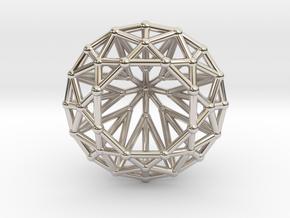 Diamond - Brilliant crystal geometry in Rhodium Plated Brass