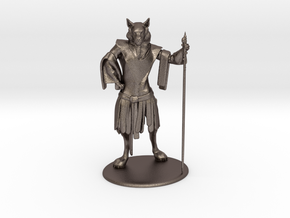 Aslan (Traveller race) Miniature in Polished Bronzed Silver Steel: 1:60.96
