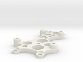 ArduinoUnoLaserBlockMount in White Natural Versatile Plastic