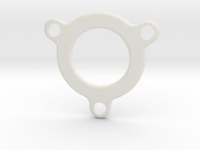 Half-inch Ex Filter Face in White Natural Versatile Plastic