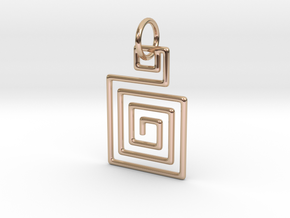 Square Spiral Pendant in 14k Rose Gold Plated