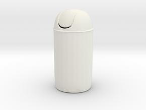 Printle Thing Cafe Trashbin - 1/24 in White Natural Versatile Plastic