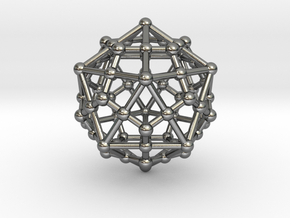 Dodecahedron - Icosahedron in Polished Silver