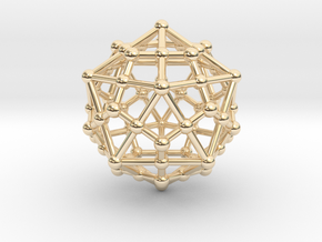 Dodecahedron - Icosahedron in 14k Gold Plated Brass