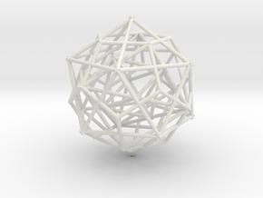 Nested Platonic Solids in White Natural Versatile Plastic