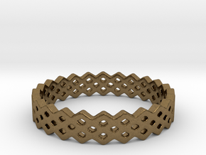 Square Ring (all size 4-13) in Natural Bronze: 4 / 46.5