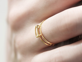 GEM Ring  in 18k Gold Plated Brass: Medium