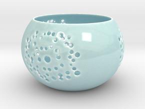 Windlicht / Candle Holder in Gloss Celadon Green Porcelain