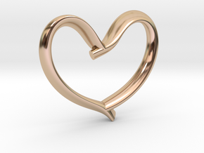 Valentine's Day in 14k Rose Gold Plated Brass: Medium