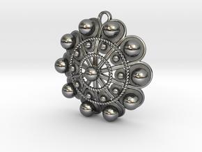 "Charro Pendant, 40mm (1.6"") in Fine Detail Polished Silver"