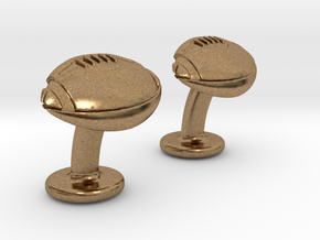 American Football Cuffslinks in Natural Brass