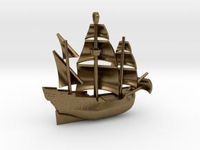Galleon Small (Nov 1) in Natural Bronze