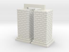 HO Chimney - Large x 2 in White Natural Versatile Plastic