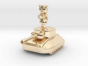 Fiura The Tank Girl Figurine #1 in 14K Yellow Gold