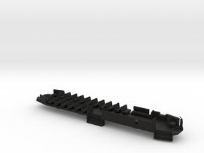 O Scale B&QT 6000 Solid Floor #1a  in Black Natural Versatile Plastic