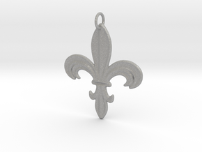 Heraldik Lilie 1 in Aluminum