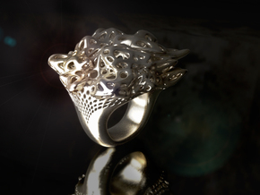 Nebula Ring in Polished Silver