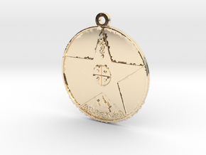 Metatronia Therapy Pendant in 14K Yellow Gold