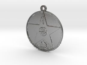 Metatronia Therapy Pendant in Natural Silver