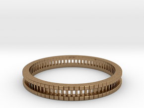 Bracelet D Small 2.0 Inch-52 Mm in Natural Brass