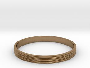 Bracelet  Ø2.5 Inch- Ø64 Mm in Natural Brass