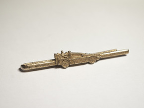 Back to the future's Delorean Tie Clip in Polished Bronzed Silver Steel