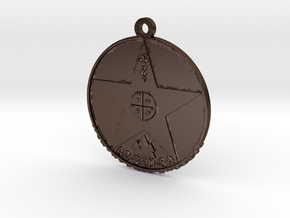 Metatronia Therapy Pendant in Polished Bronze Steel